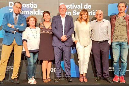 """Emma Suárez recibe el premio """"Basque Country Gastronomiko"""""""